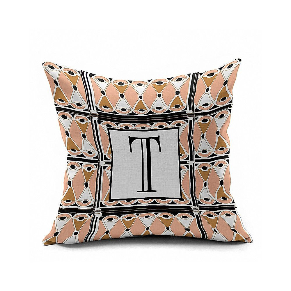 Cotton flax pillow cushion cover letter zm products