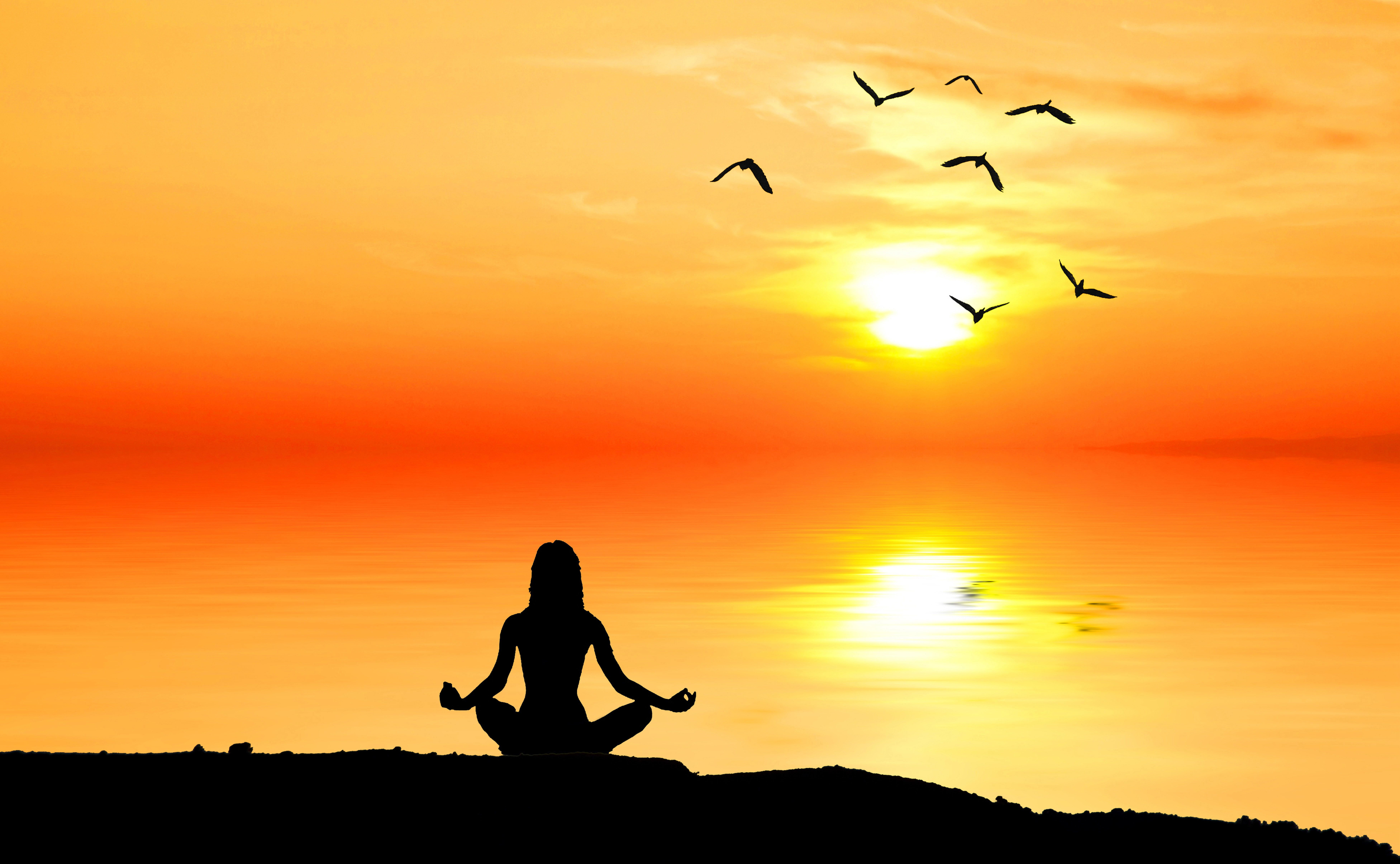 Meditating Woman Silhouette Nature Dawn Meditation People Silhouette Meditation Nature Sun Woman Silhouette Beautiful Backgrounds Facebook Cover Photos