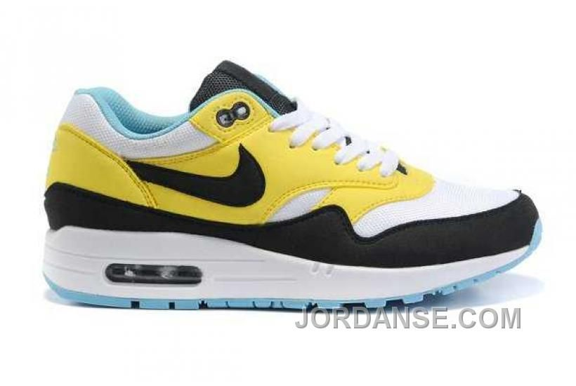 Nike Air Max 1 Women Shoes Yellow/White/Black Color