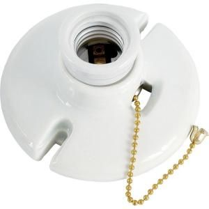 Leviton Pull Chain Socket Ge Medium Base Porcelain Lampholder With Pull Chain  Porcelain