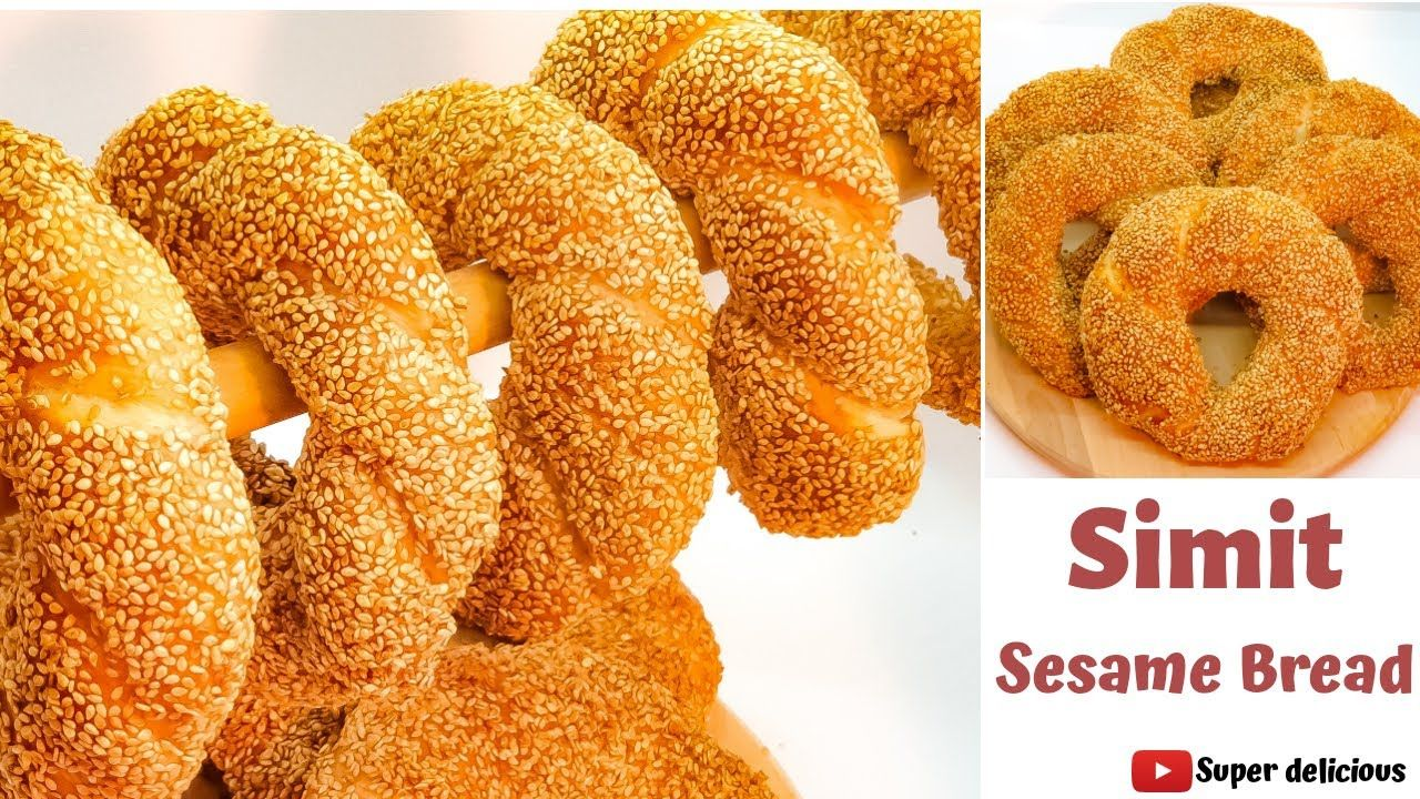 Simit خبز السيميت التركي بطريقة مفصلة و بأطيب مذاق Youtube Delicious Gummy Candy Bread