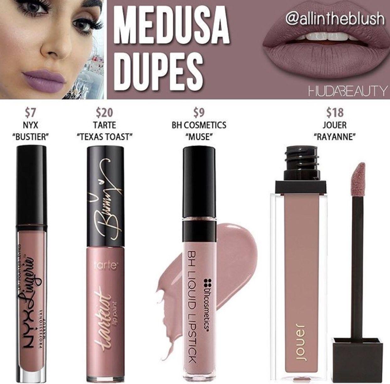 Huda Beauty Liquid Lipstick Dupes In The Shade Medusa Kayy Dubb