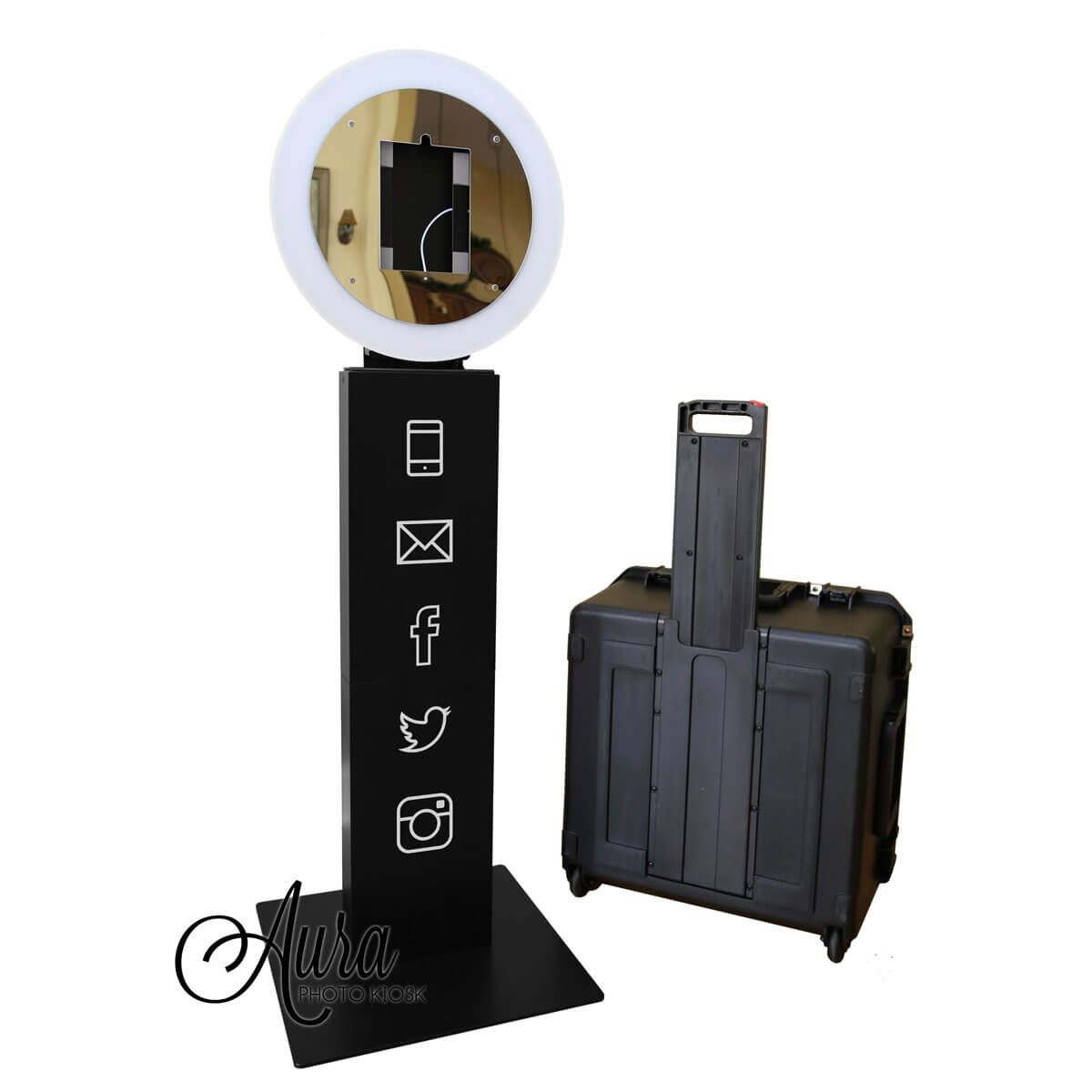 Award Winning Ring Light IPad Photo Kiosk For The Portable Booth Market Pro 10 Easy To Setup Ultra With Premium Build