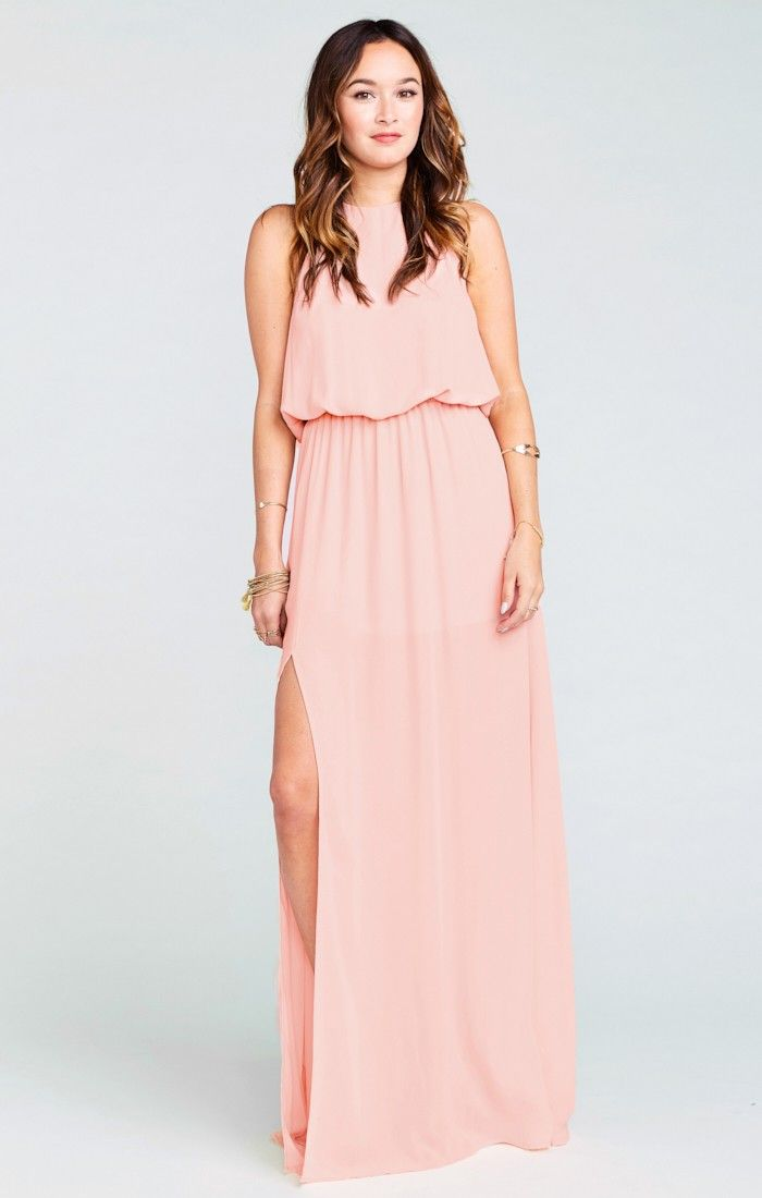 Show Me Your Mumu Heather Halter Dress ~ Frosty Pink Crisp ...