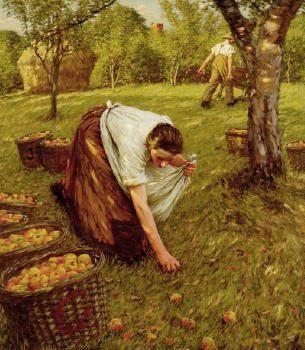 Sussex Autumn ~ Henry Herbert La Thangue ~ (English: 1859-1929)