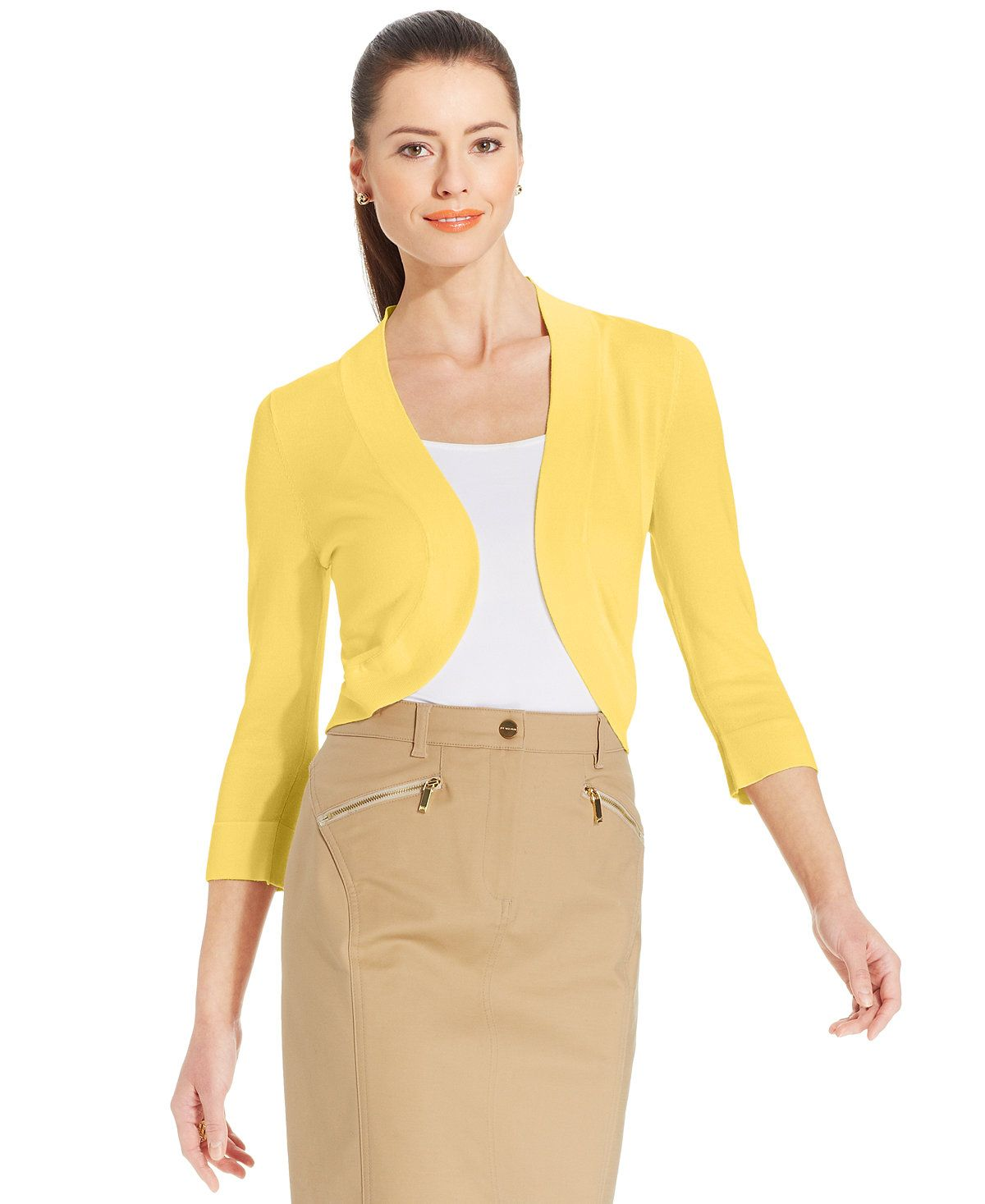 Jessica Howard Bolero Cardigan - Sweaters - Women - Macy's | Shoes ...