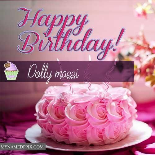 New Happy Birthday Cake Greeting Card Name Write Pictures Birthay