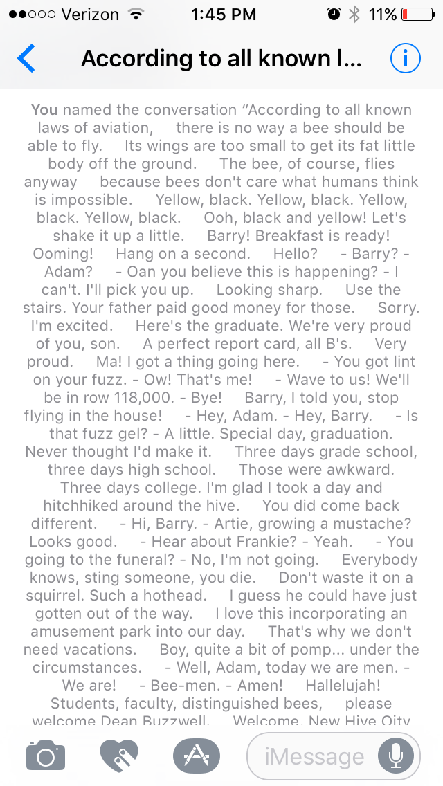 Named My Group Chat The Bee Movie Script Funny Group Chat Names Group Chat Names Funny Names