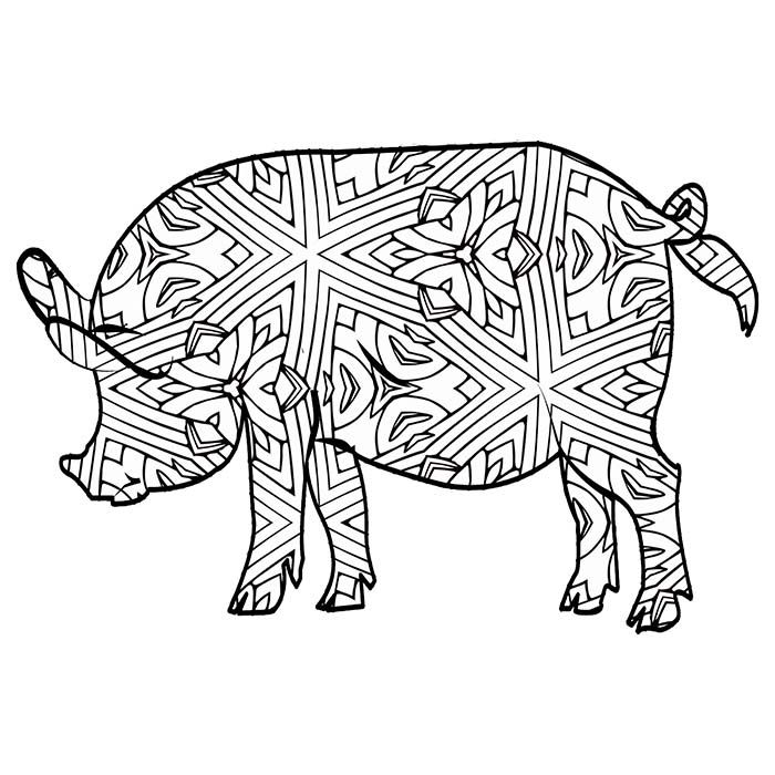 30 Free Printable Geometric Animal Coloring Pages The Cottage Market Animal Coloring Books Coloring Books Geometric Animals