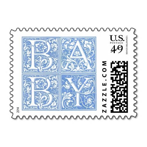 Baby Classic Blue Postage Stamps. It is really great to make each letter a special delivery! Add a unique touch to invites or cards with your own photos or text. Just click the image to learn more!