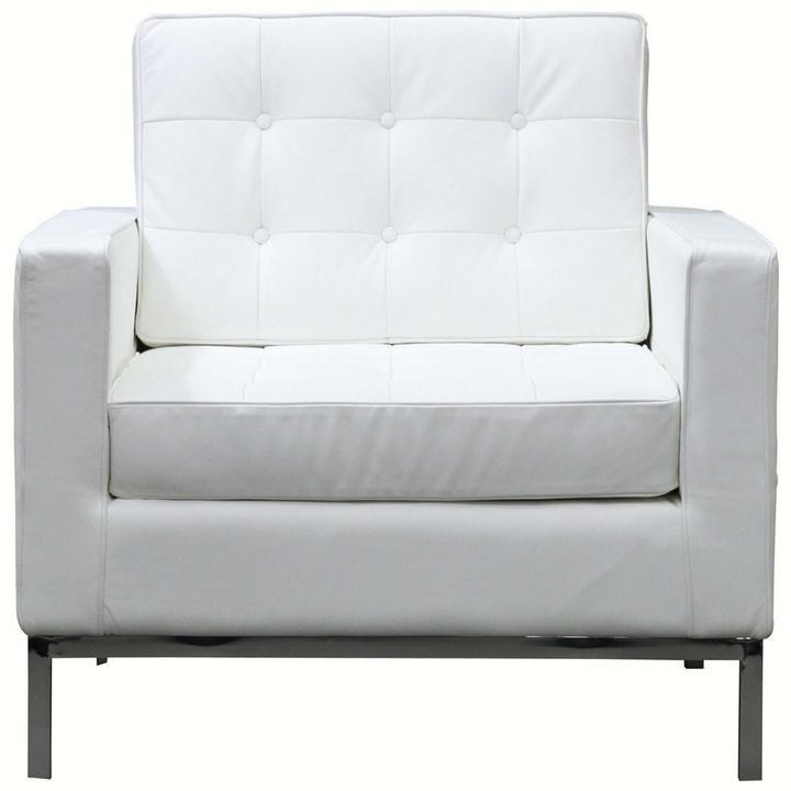LOFT LEATHER ARMCHAIR IN PUMPKIN - Mocofu Modern Armchairs