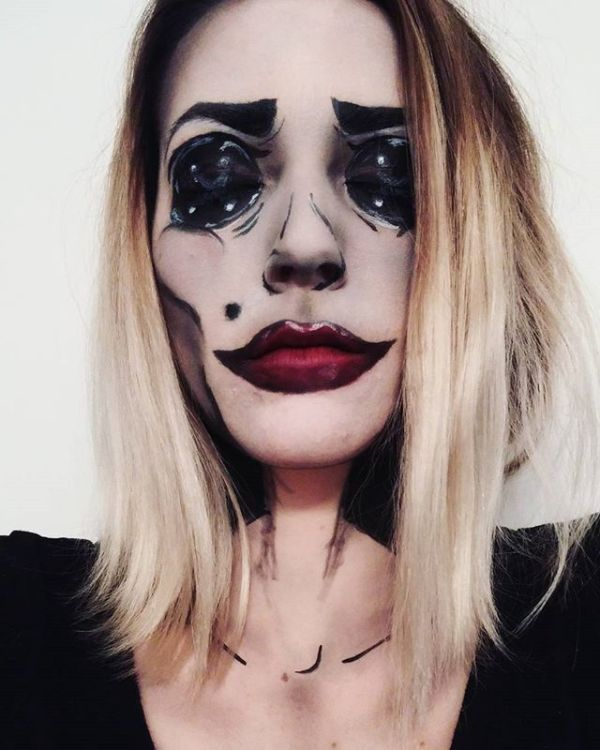 50 Pretty Halloween Makeup Ideas\u2014Minimal Costume Required Pretty - face makeup ideas for halloween