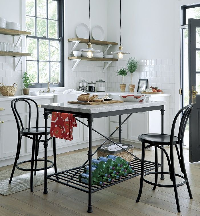 Crate And Barrel French Kitchen Collection Bakers Rack