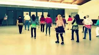 line dance almost cha cha - YouTube