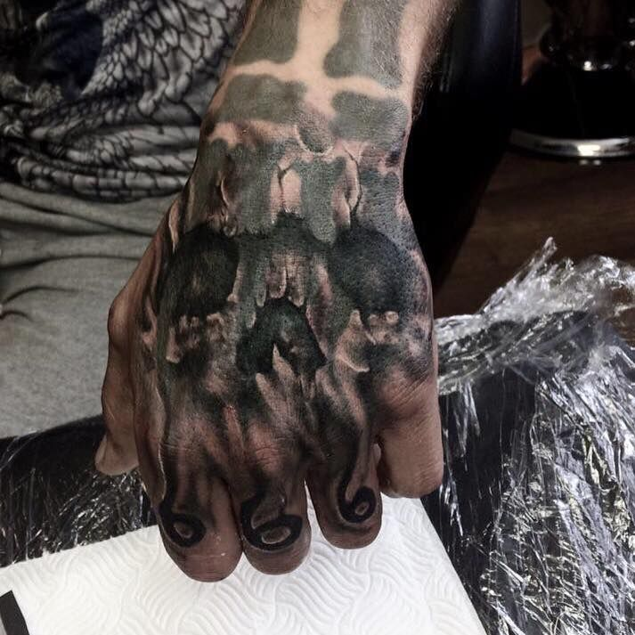 80 Skull Hand Tattoo Designs For Men Manly Ink Ideas Skull Hand Tattoo Hand Tattoos Hand Tattoos For Guys