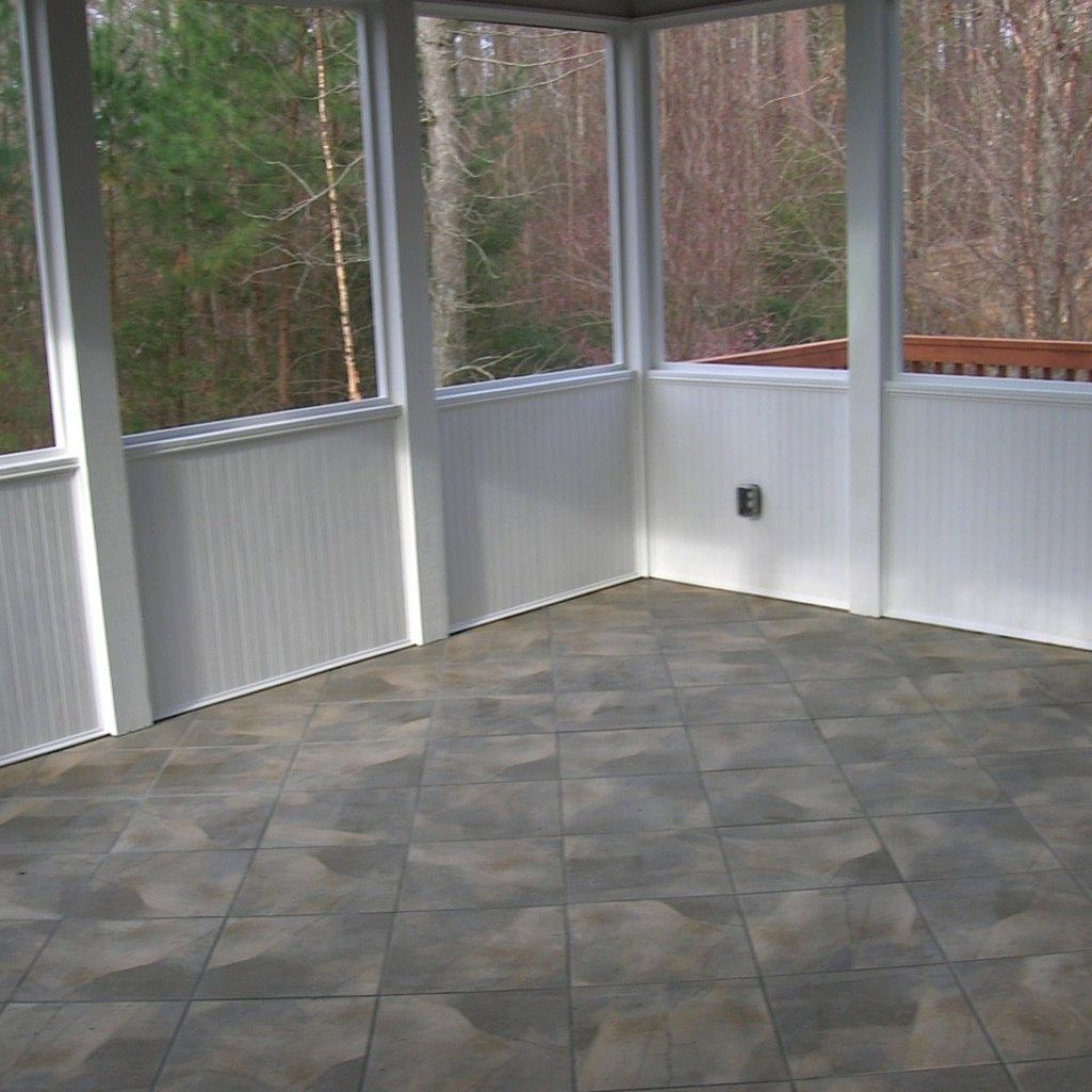 Screened In Porch Flooring Ideas The Garden Inspirations Contemporary Screened Porch Flooring Ideas Porch Tile Building A Porch House With Porch