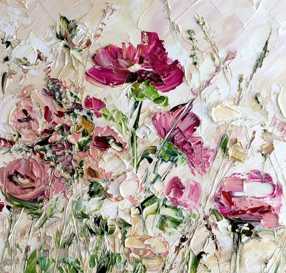 Flower oil painting canvas large original oil painting canvas pink vanilla sky pink red beige white art original oil painting palette knife textured painting flower impasto wall decor contemporary decorating cottage home mightylinksfo