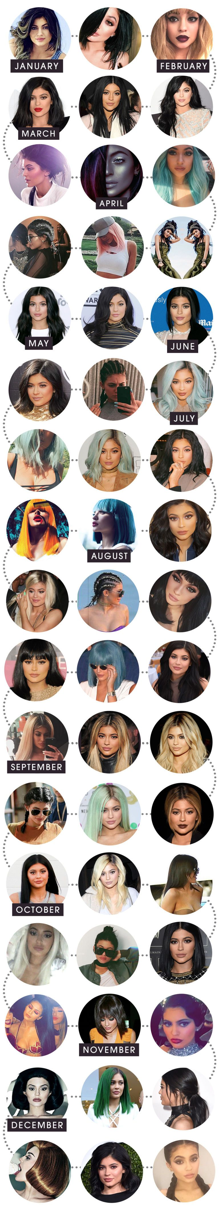 See all of Kylie Jenner's wildest hair colors from 2015: