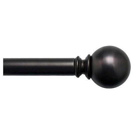 Bali 1 Quot Ball Decorative Curtain Rod Bronze Target With