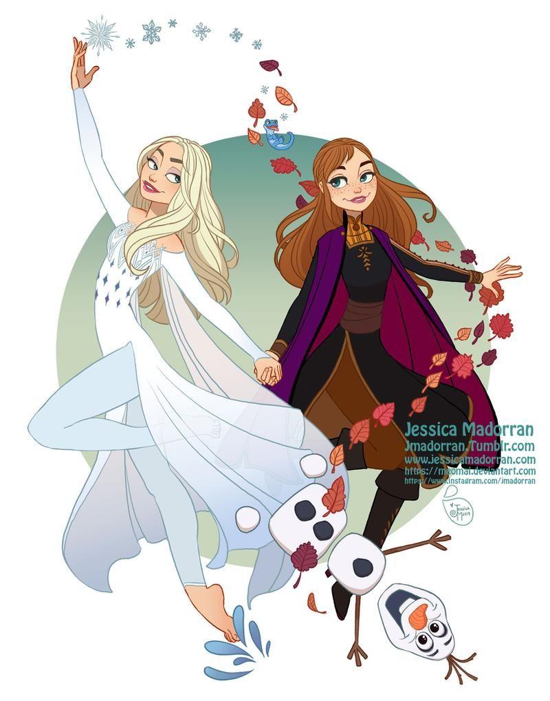 Fan Art Elsa And Anna By Meomai On Deviantart In 2020 Art Fan Art Character Design