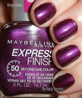 Grape Times Maybelline Express Finish Nail Polish Art Nail