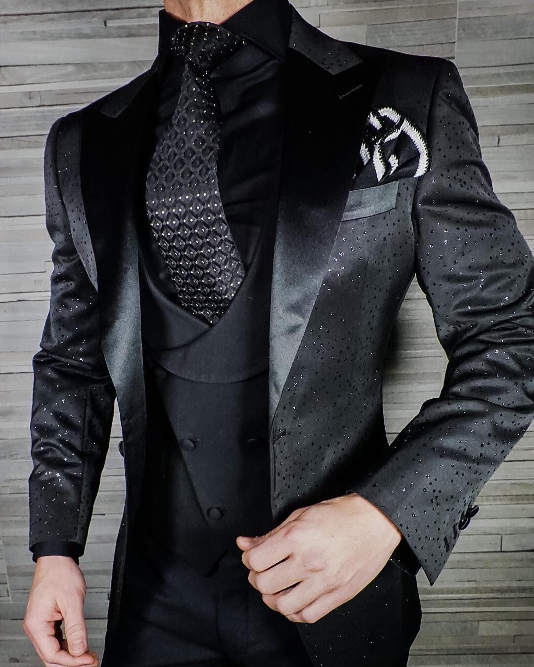 Black Brillante Jacket Designer Suits For Men Suit Fashion Dress Suits For Men [ 1350 x 1080 Pixel ]
