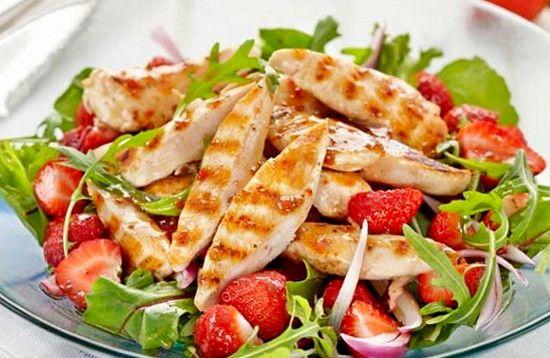 Рецепты салатов из куринной грудки | Идеи для блюд, Кулинария