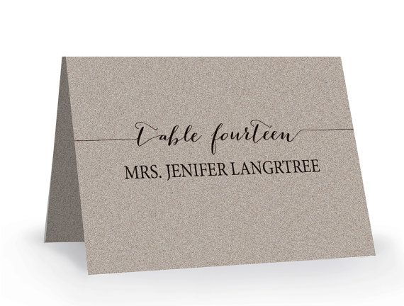 Wedding Place Card Template Printable Editable Escort Word Tent