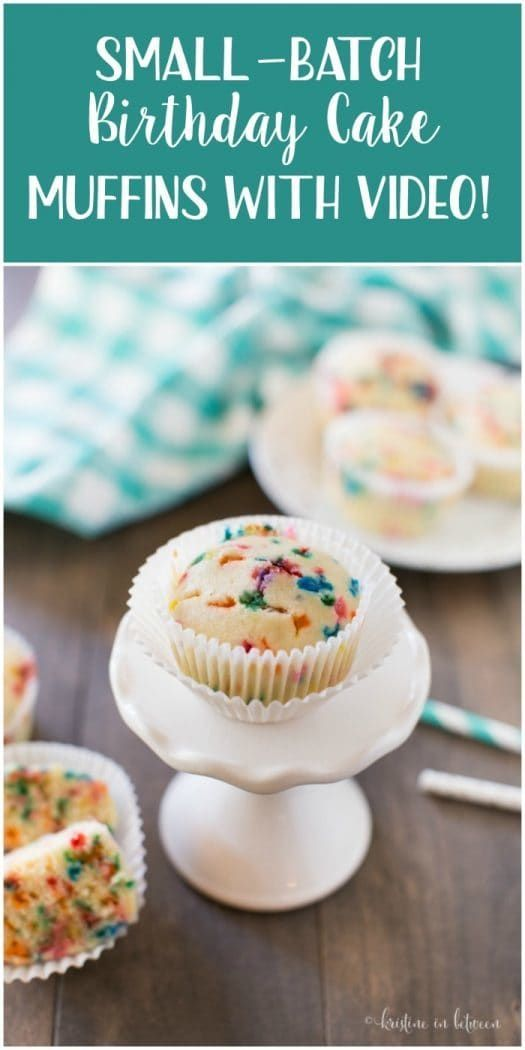 Small Batch Birthday Cake Muffins With VIDEO