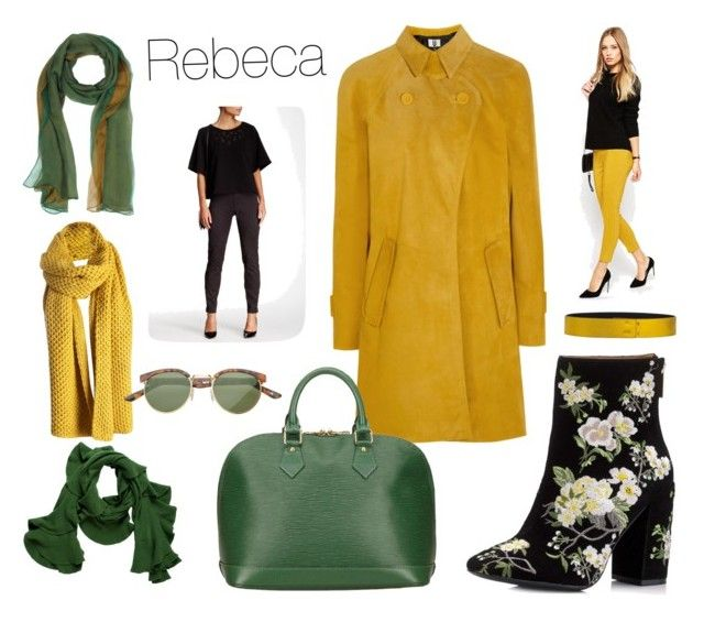 """Rebeca"" by begopuig on Polyvore featuring moda, Miss Selfridge, Topshop Unique, Laura Biagiotti, Louis Vuitton, Magaschoni, Cédric Charlier, ASOS y Rebecca Taylor"