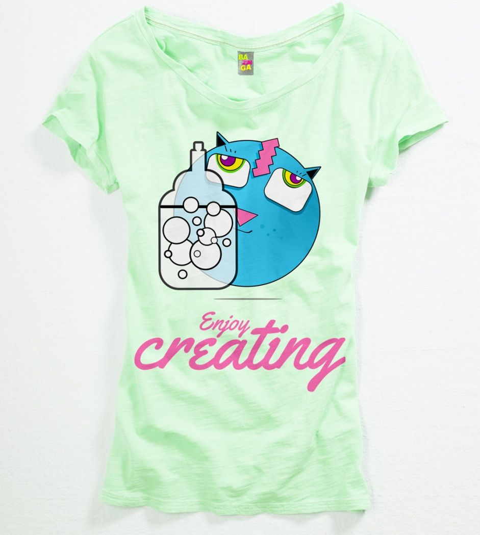 """""""Enjoy creating"""" t-Shirt from the Shroom T-Shirts collection made by Igor Wnuk"""