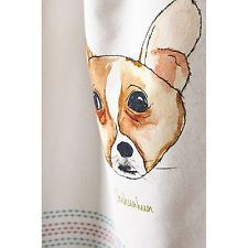Anthropologie Loved & Loyal Tea Towel, 100% Cotton Chihuahua By Siobahn Palmer