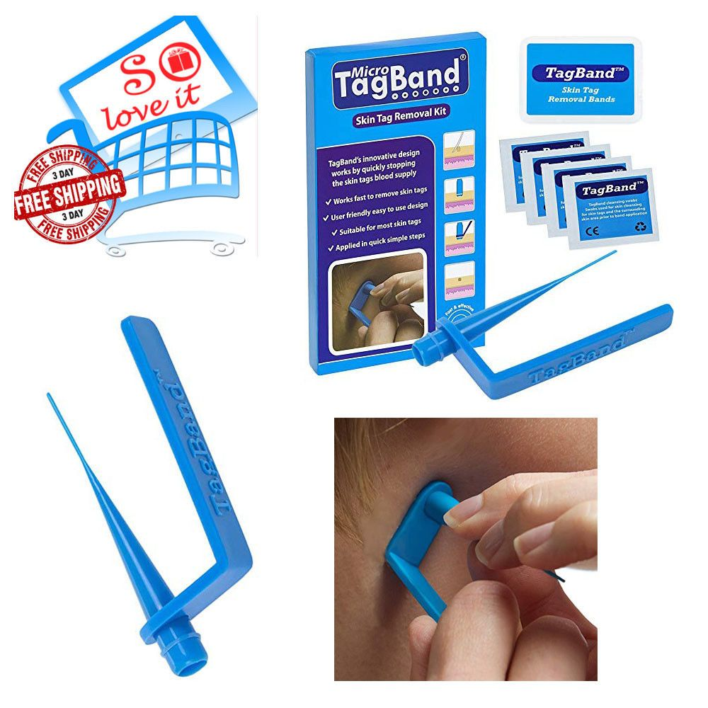 Tagband Micro Skin Tag Remover Device For Small To Medium Kit Easy