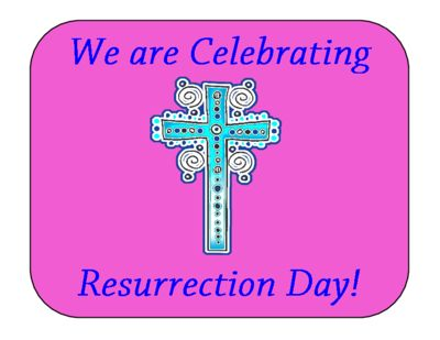 We Are Celebrating Resurrection Day! Poster FREEBIE from MiMi Sue Can Read on TeachersNotebook.com (1 page)