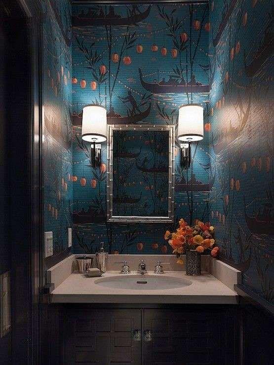 Carta da parati per il bagno carta da parati in stile orientale wallpaper walls and house - Carta da parati lavabile per bagno ...