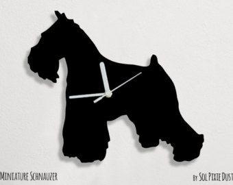 Cat Maneki Neko Silhouette Wall Clock Etsy Schnauzer Dogs Schnauzer Miniature Schnauzer