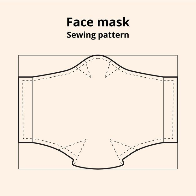 Photo of Download Face Mask Sewing Pattern Front View for free