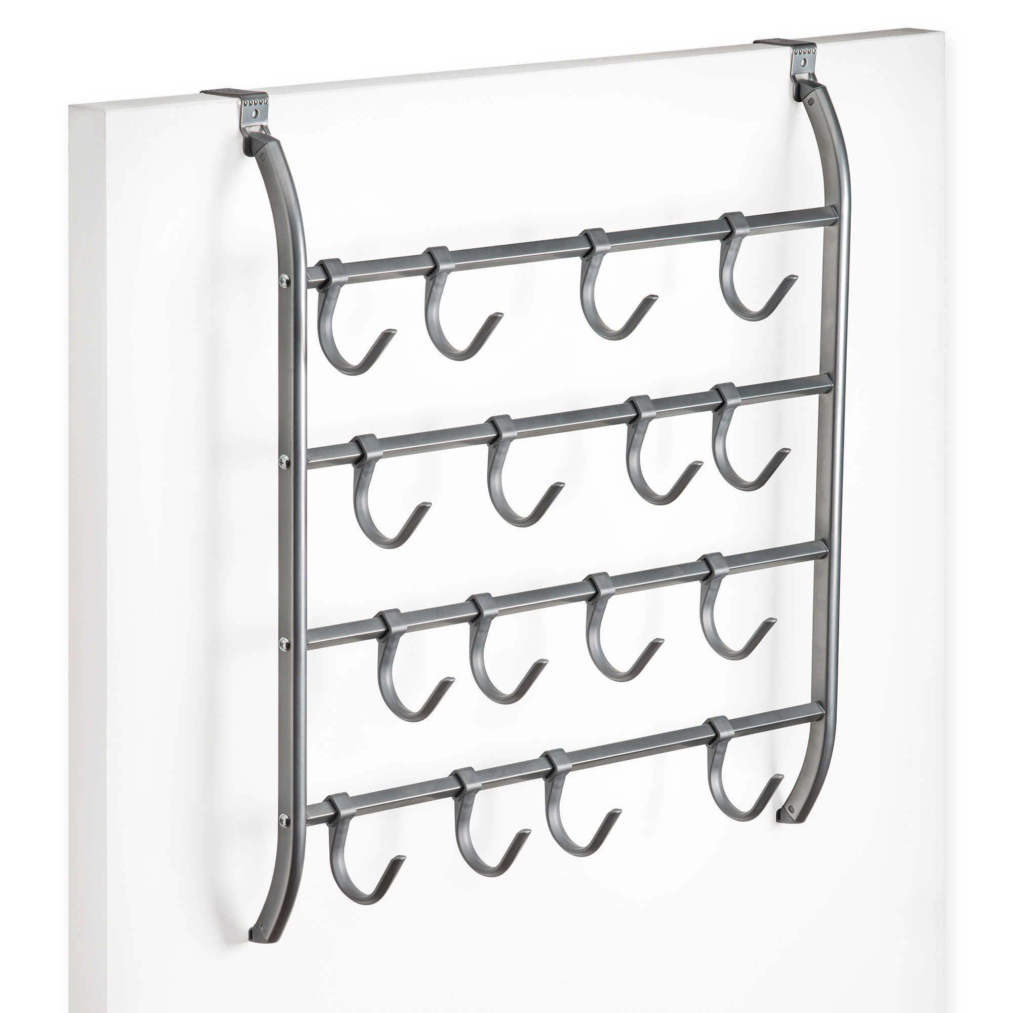 OvertheDoor Metal Hanging Hook Rack Accessory Organizer in