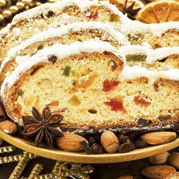 Stollen Navideño Pan dulce alemán para la Navidad