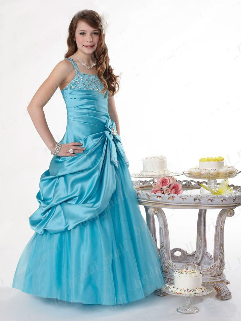 Wonderful Lovely Graceful Flower Girls Pageant Dresses Bow Beads ...