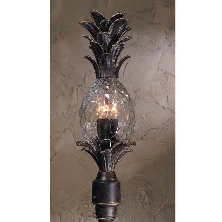 New 4 light tropical outdoor post lamp lighting fixture bronze new 4 light tropical outdoor post lamp lighting fixture bronze pineapple glass aloadofball Gallery