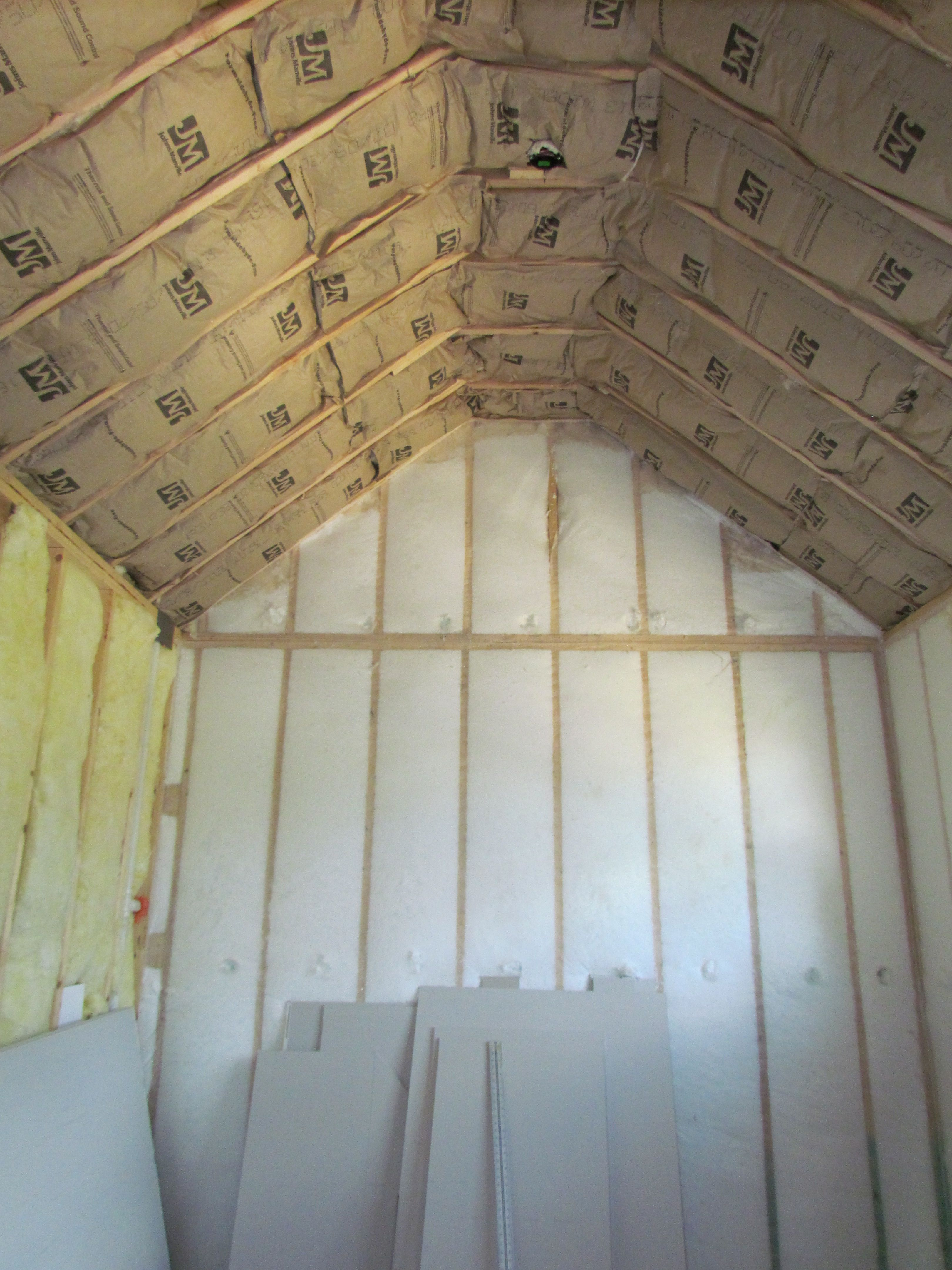 A Blown In Fiberglass Insulation With An R Value Of 23 Is Used In Outside Walls We Only Use