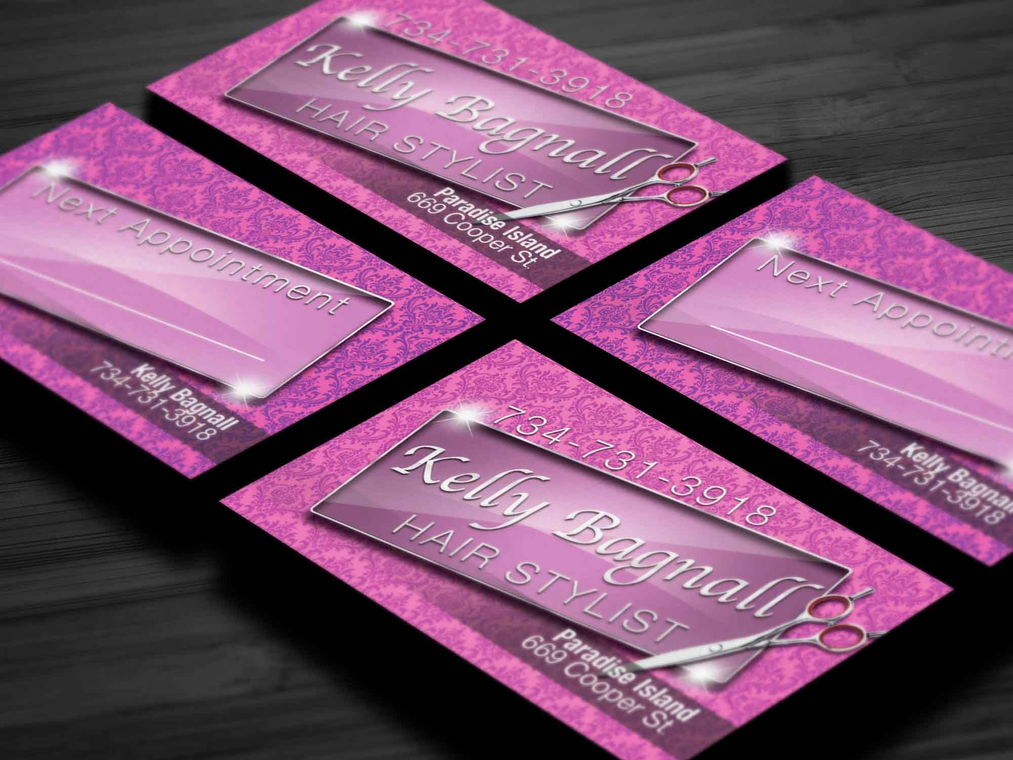 business card that we designed for a local hair stylist