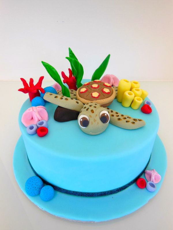'Squirt' - from Finding Nemo  www.enticingcakes.com.au  https://www.facebook.com/pages/entICING-cakes/446691245352652?ref=hl