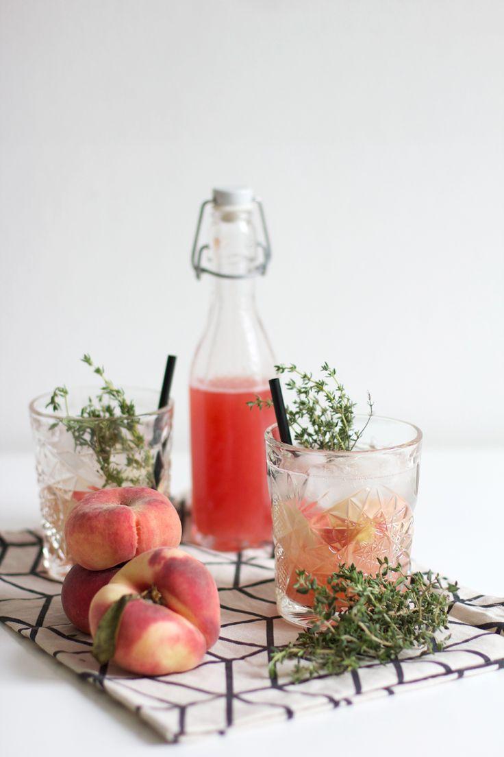 Drinks: Pfirsich-Thymian-Sirup   Pinterest   Sirup, Getränke und Liköre