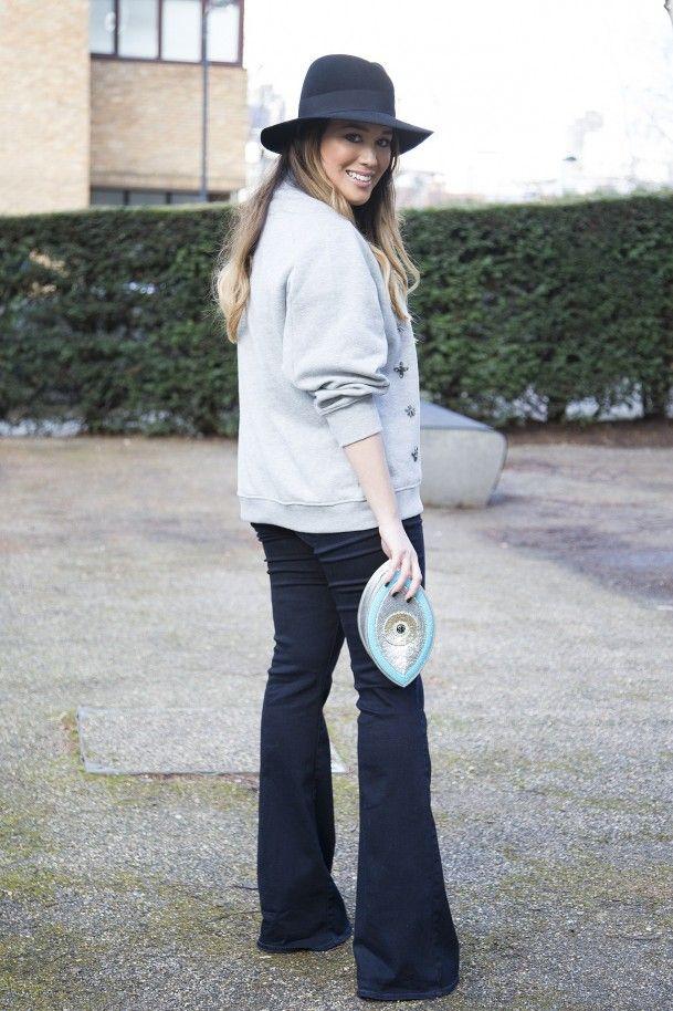 Lou Hay, blogger   wearing Sunita Mukhi clutch