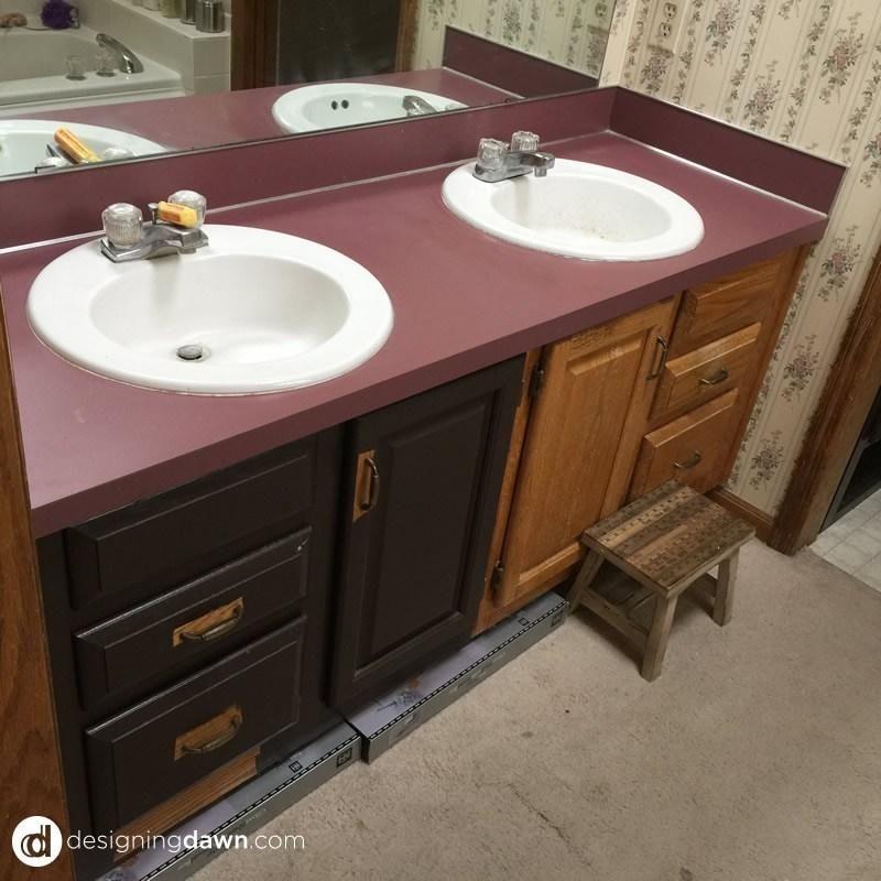 Spray Painted Bathroom Counter Bathroom Renovation Cost
