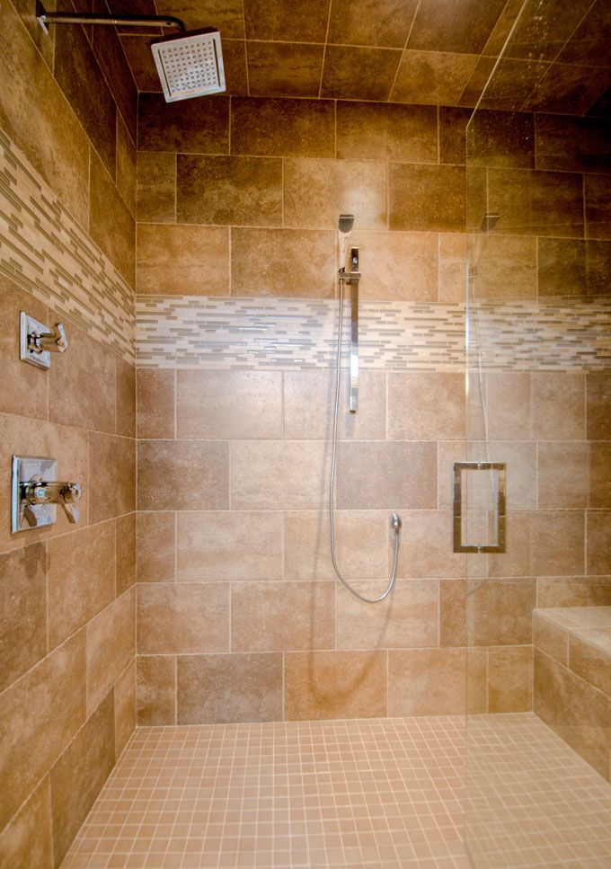 Ironwood Homes Image Gallery tiled walk-in shower Curbless Shower