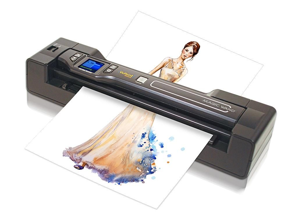 Amazon Com Vupoint Magic Wand Document Photo 2 In 1 Portable Scanner Auto Feed Dock 1 5 Preview Lcd With 1200 Dpi Recha Portable Scanner Magic Wand Wands
