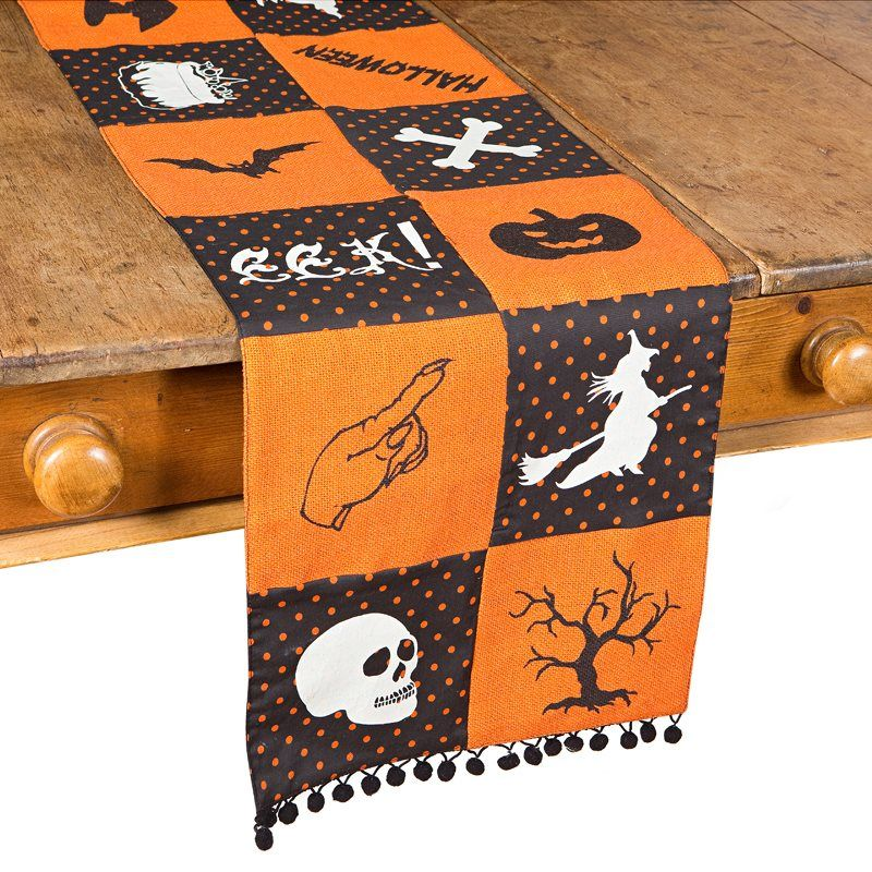 Shop XIA Home Fashions XD1583413 Halloween Patchwork Table Runner at - lowes halloween